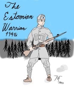 the estonian Warrior by themightyfrenchmen