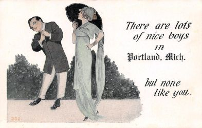 Vintage Michigan - Lots of Nice Boys in Portland by Yesterdays-Paper