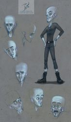 Megamind sketches by suthnmeh