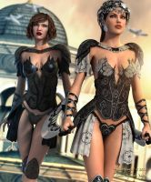 Warriors 2... Aicka and Victoria by Pitoxlon
