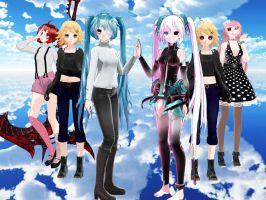 MMD Vocaloid Ghoul by Lune124