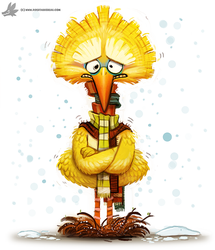 Day 786. Big Bird by Cryptid-Creations