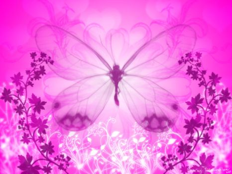 Pink Butterfly Wallpaper by yohlenyaoilover