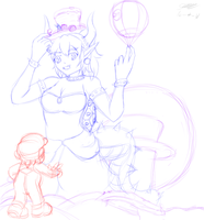 Bowsette odyssey WIP by GtsMayCry7