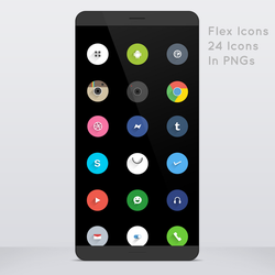 Flex Icons - Rounds With Shadows by thechampishere03