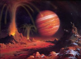 Jupiter from Io by AlanGutierrezArt