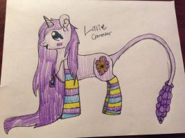 Lavie (lavender naturepony) by rainbowpaint15