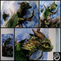 Dragon Breaking Free from Acrylic Painting - SOLD by SonsationalCreations