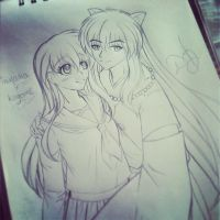 Inuyasha and Kagome (2) process by ilovetheanime