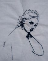 Embroidered Portrait Jean-Auguste-Dominique Ingres by Pumpkin-Pasty