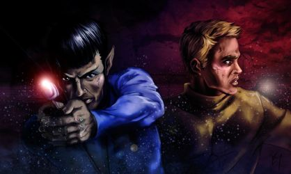 Spock and Kirk by Boudicca-Keltoi
