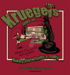Kruegers Realty Movie T-Shirt by D-B-Dot-Com