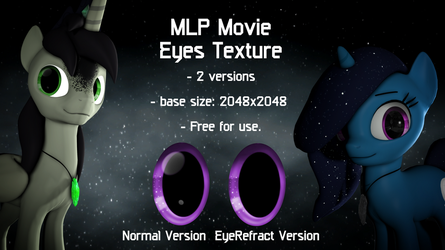 MLP Movie Eyes Texture (SFM addons) by Okimichan