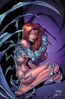 witchblade pin up inked by kriss777-d3jtr4u XGX by knytcrawlr