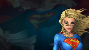 Supergirl Wallpaper - Up Close 2 by Curtdawg53