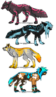 4 scene canines by A-Blue-Fire