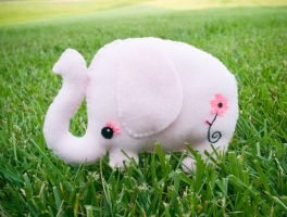 Adeline the Pink Elephant by someweirdcrab