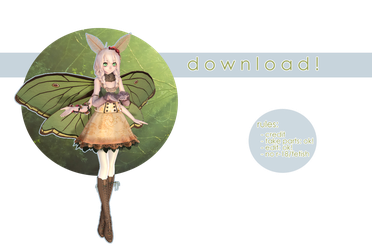 [ mmd ] download || spanish moon moth by aeriiie