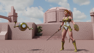 MOTU - Teela and Spar Bot - 1 by paulrich
