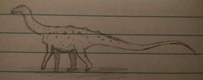 Doodle Small Titanosaur by CMIPalaeo