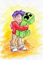 GIFT: A Boy and his Creeper by OzzieScribbler