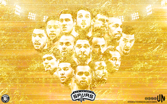 San Antonio Spurs Old But Gold 3840x2400 Wallpaper by vndesign