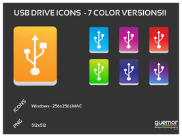 USB Drive Icon-7 Color Version by guemor