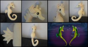 Seahorse plushie from Majora's Mask by Maz-Zeldette