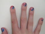 4th of July Nail Design (2013) by Winged-blackshell