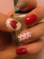 Red, White and Gold by nail-artisan