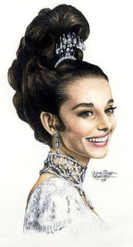 Audrey Hepburn 138colored penc by Ethan-Carl