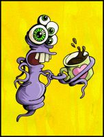 Tangled Coffee Monster by metalandy