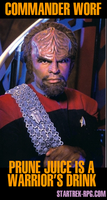 Worf Prune Juice Advertisement by TheMorr