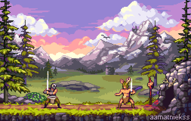 What if Skyrim was a 2d side-scroller game? by aamatniekss