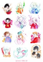 Watercolor doodles1 by Owlyjules
