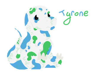 Tyrone the not-so-mighty, chibi T-rex by AveryCF