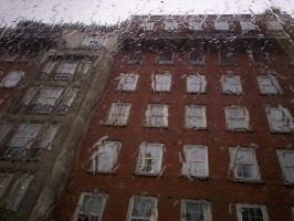 Rain and building by Holsmetree