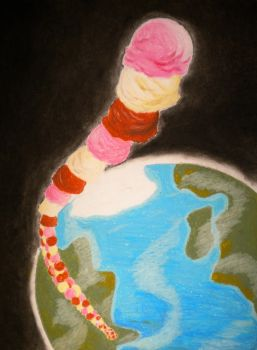World Tallest Ice Cream Stack by pokeang