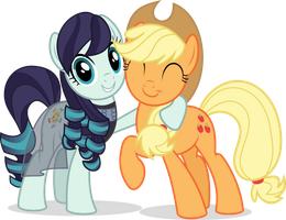 MLP Vector -Coloratura and Applejack (Rarajack) #1 by jhayarr23