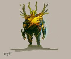 Speedpaint Forest Guardian by benedickbana