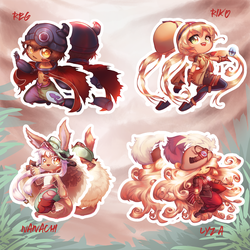 Made in Abyss Chibis by Draconli