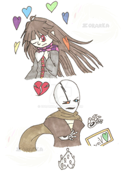 Marker Art Collection 1: Undertale AU by Zorarka