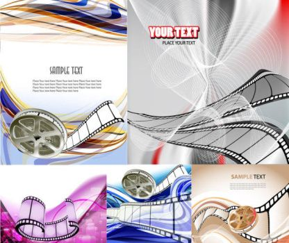 Movie Film Vector background by vectorbackgrounds