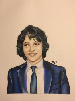 Finn Wolfhard by Flamedragon44