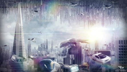 Futuristic-City Wallpaper by ybarrapaul