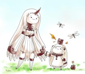 Northern Ocean Hime and Seaport Hime--Walking Time by bome830