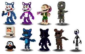 FNaC Adventure Characters by Educraft