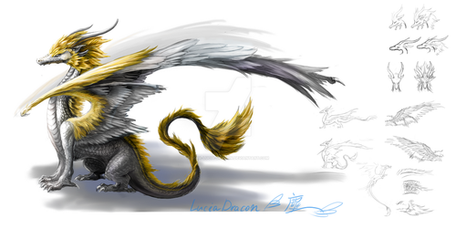 Dragon version 1 by Lena-Lucia-dragon