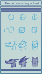 How to basically draw a dragon head by BlacklessAngel