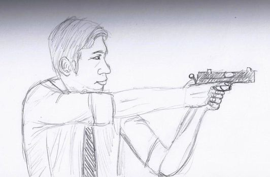 Some dude with a gun by TheLatinoAsian